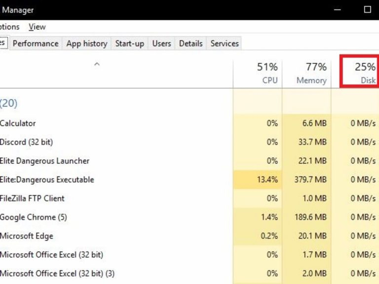 How to fix persistent 100% drive usage on Windows 10?