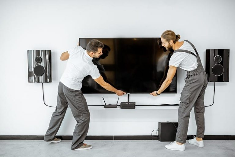 Is it hard to dismount TV from the wall?