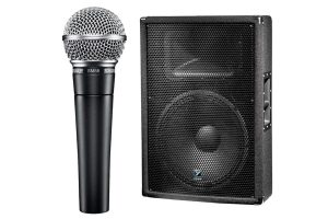 Speakers and a Microphone
